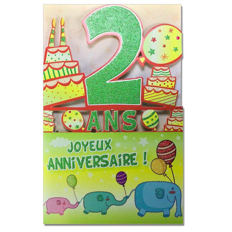 Carte Anniversaire 2 Ans Decoup Age Une Carte Pour Toi