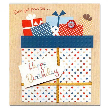 Carte Anniversaire Prestige Paquets cadeaux