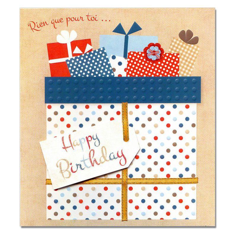 Paquet Cadeau Dans Une Carte