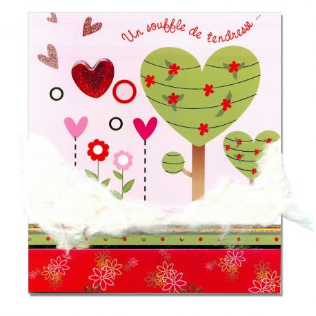 Carte Sentiments Prestige Souffle de tendresse