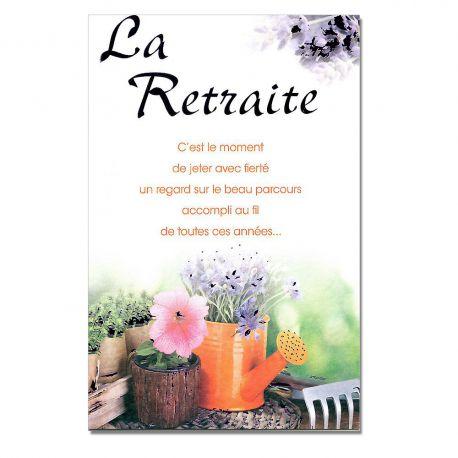 Cartes mots du bonheur retraite arrosoire une carte pour toi - Lettre pour une retraite bien meritee ...