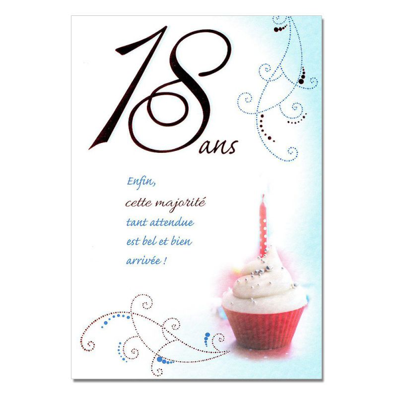 cartes mots du bonheur anniversaire 18 ans une carte pour toi. Black Bedroom Furniture Sets. Home Design Ideas