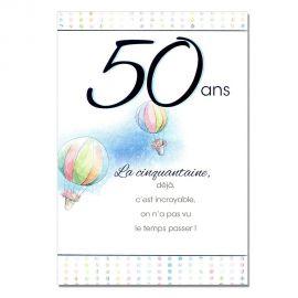 Cartes Mots du bonheur Anniversaire 50 ans homme