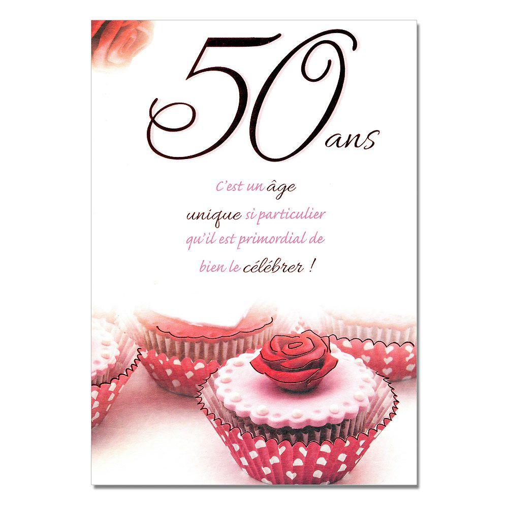 Cartes Mots Du Bonheur Anniversaire 50 Ans Femme Une Carte Pour Toi