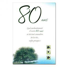 Cartes Mots du bonheur Anniversaire 80 ans