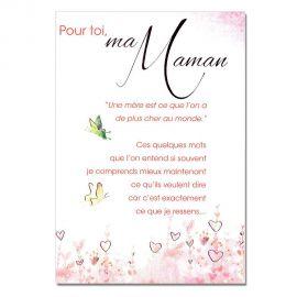 Cartes Mots du bonheur Sentiments pour Maman Papillons
