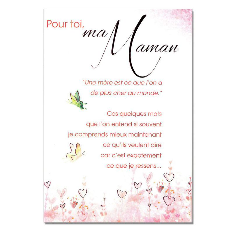 cartes mots du bonheur sentiments pour maman papillons. Black Bedroom Furniture Sets. Home Design Ideas