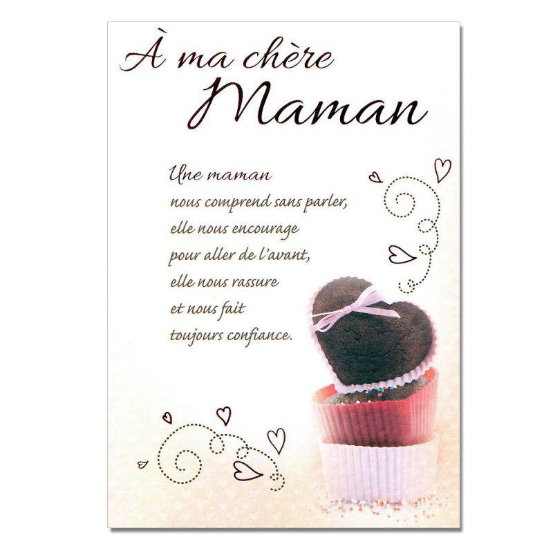 Cartes Mots Du Bonheur Sentiments Pour Maman Gâteaux Une Carte Pour Toi