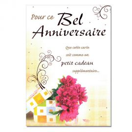 Cartes Mots du bonheur Anniversaire tous âges Bel anniversaire