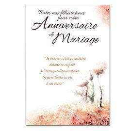 Cartes Mots du bonheur Anniversaire de Mariage personnalisable