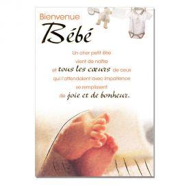 Cartes Mots du bonheur Naissance Bébé