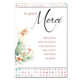 Cartes Mots du bonheur Remerciements Fleurs