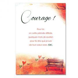 Cartes Mots du bonheur Soutien Courage