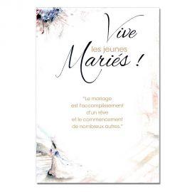 Cartes Mots du bonheur Mariage Jeunes mariés
