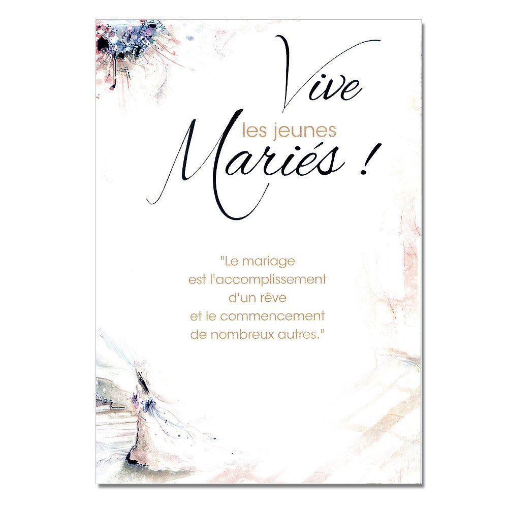 cartes mots du bonheur mariage jeunes maris - Mot Flicitation Mariage