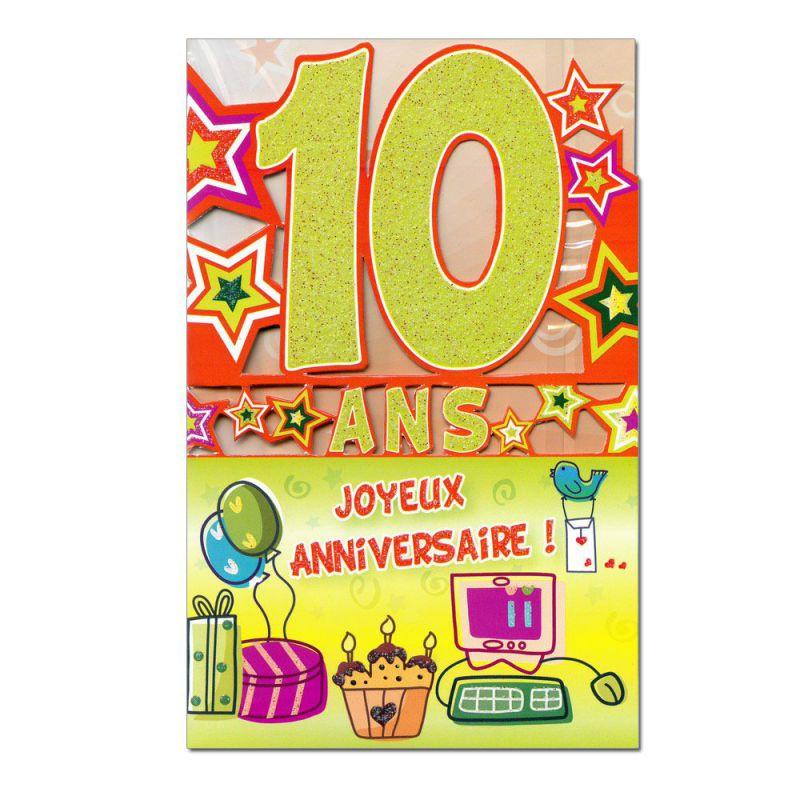 Carte Anniversaire Garcon 10 Ans