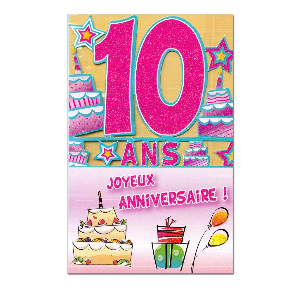Carte anniversaire de rencontre 10 ans