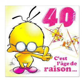 Cartes Piaf papillon anniversaire 40 ans
