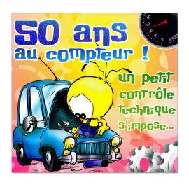 Cartes Piaf papillon anniversaire 50 ans