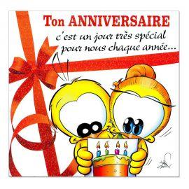 Cartes Piaf papillon anniversaire tous âges jour spécial