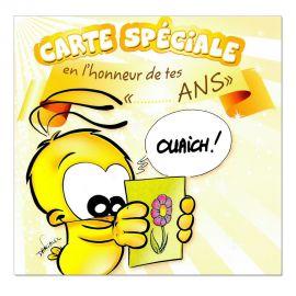 Cartes Piaf papillon anniversaire tous âges carte spéciale