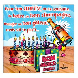 Cartes Piaf papillon anniversaire tous âges Bling-bling