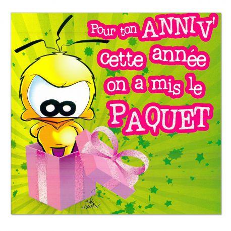 Cartes Piaf papillon anniversaire tous âges le paquet