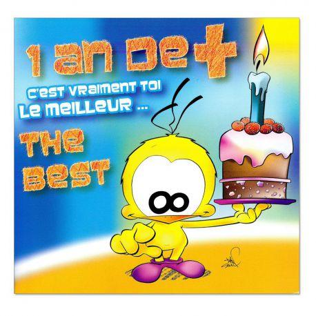 Cartes Piaf papillon anniversaire tous âges the best