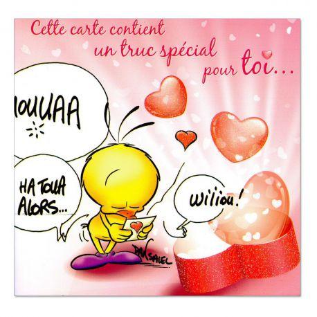 Cartes Piaf papillon sentiments Truc spécial