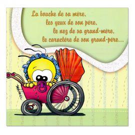 Cartes Piaf papillon naissance Poussette