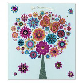 Carte Anniversaire Prestige Arbre en fleurs