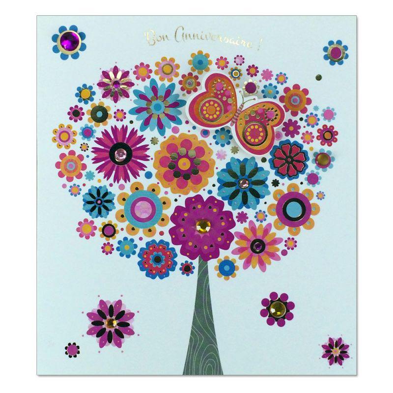 Carte Anniversaire Prestige Arbre En Fleurs Une Carte Pour Toi