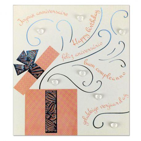 Carte Anniversaire Prestige Boîte cadeau ouverte