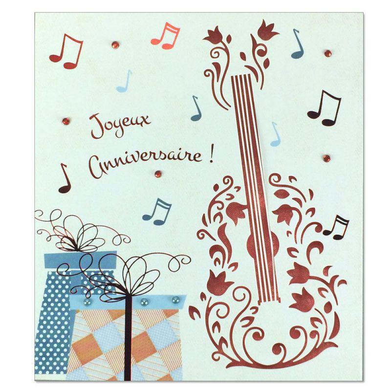 carte anniversaire prestige guitare une carte pour toi. Black Bedroom Furniture Sets. Home Design Ideas