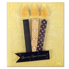 Carte Anniversaire Prestige 3 bougies