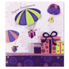 Carte Anniversaire Prestige Cadeaux en parachute