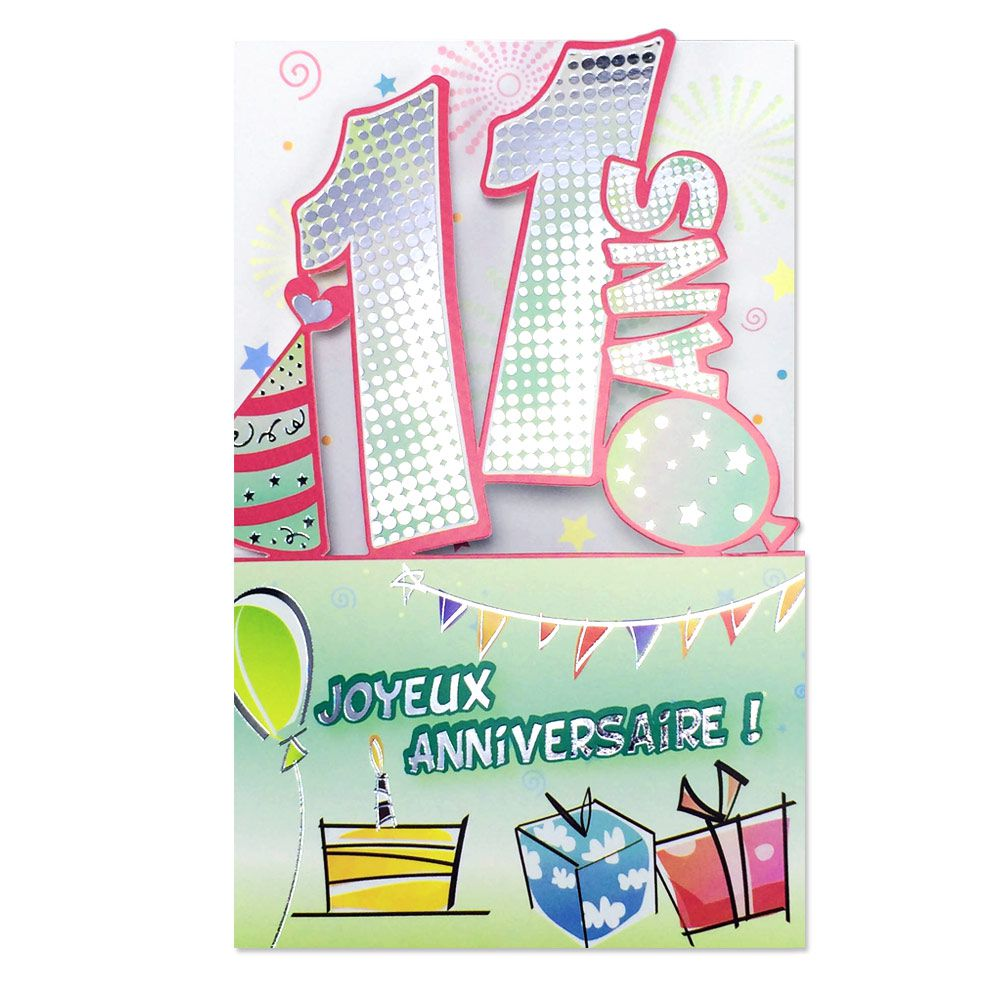 Carte Anniversaire 11 Ans Decoup Age Une Carte Pour Toi
