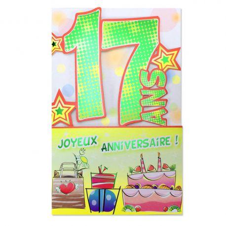 Carte anniversaire 17 ans d coup 39 ge une carte pour toi - Impression photo gratuite sans frais de port ...