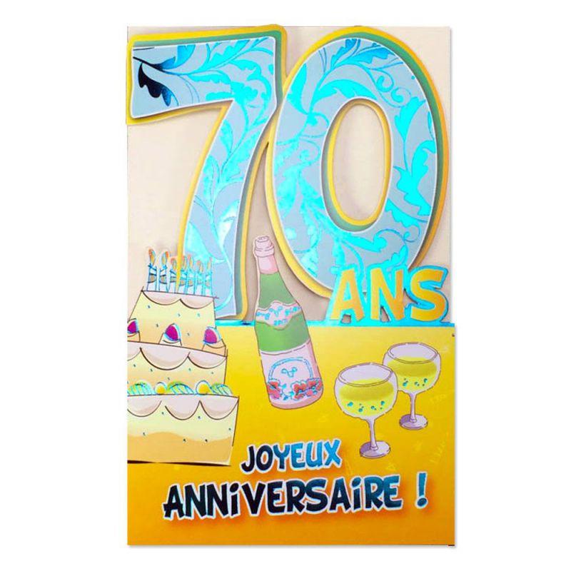 Carte Anniversaire 70 Ans Decoup Age Une Carte Pour Toi