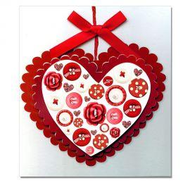 Carte Sentiments Prestige Coeur rouge