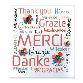 Carte Remerciement Prestige Multilingue