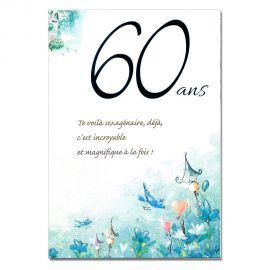 Cartes Mots du bonheur Anniversaire 60 ans homme
