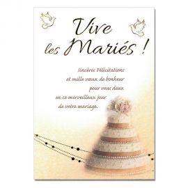 Cartes Mots du bonheur Mariage Pièce montée