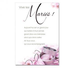 Cartes Mots du bonheur Mariage Bagues