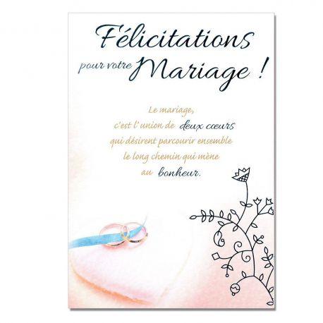 Cartes Mots du bonheur Mariage Félicitations