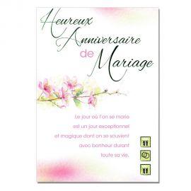 Cartes Mots du bonheur Anniversaire de Mariage