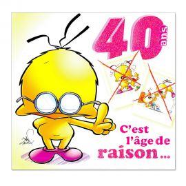 Cartes Piaf papillon anniversaire 40 ans