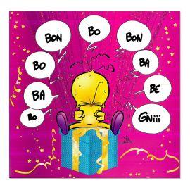 Cartes Piaf papillon anniversaire tous âges bègue