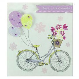 Carte Anniversaire Prestige Vélo et ballons