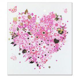 Carte Sentiments Prestige Coeur en fleur